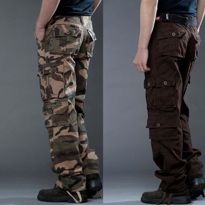 2019 New Style Spring And Autumn Camouflage Bib Overall Bags Trousers Men's Business Attire Military Training Pants Large Size L