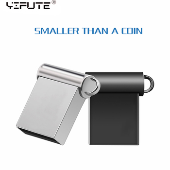 цена на Super Mini USB flash Drive 128GB 64GB 32GB 8GB Metal Pen Drive Pendrive 128 64 32 16 8 GB Flash Memory Cle USB Stick