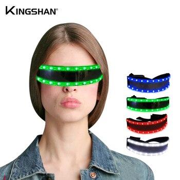 Kingshan LED Glasses Party Glow Glasses LED Sun Glasses Party Glow Light Up Glasses For Bar Dance Festival lighting props фото