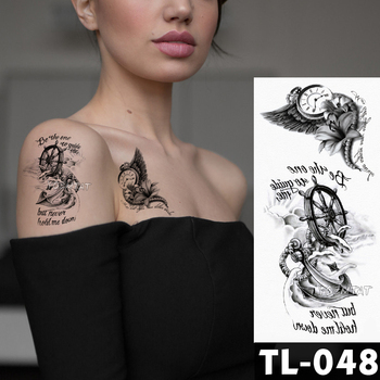 Dreamcatcher flower tattoos Bracelet Temporary Tattoo Stickers translated tattoos Girl Chest Arm Flash Fake Tattoo Women Waist 2