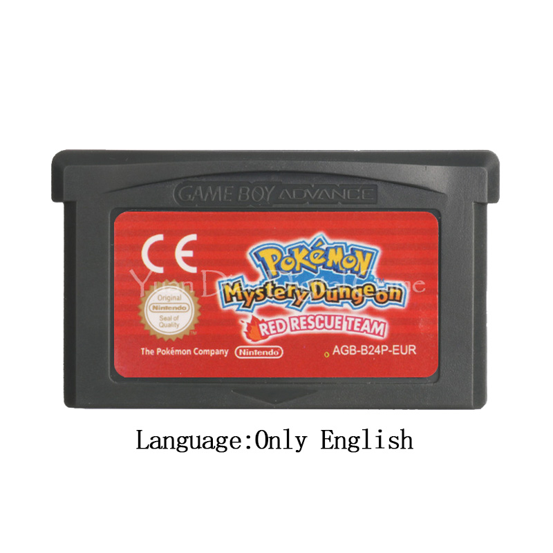 For Nintendo GBA Video Game Cartridge Console Card Poke Series Mystery Dungeon Red Rescue Team EU Version