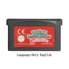 Для Nintendo GBA видеоигры картридж Консоли Карты Poke серии тайна подземелий красная Спасательная команда (версия ЕС)