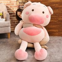 59'' Giant Big Lovely Pig Plush Soft Toy Doll Stuffed Animal Pillow Cushion Gift Toys For Children Plush Toys Cute
