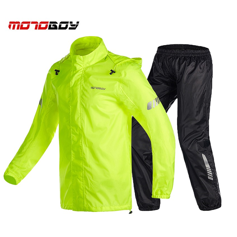Motorcycle Raincoat+Rain Pants Waterproof Raincoat Motocross Riding Raincoat Rain Pants Suit Motorcycle Rain Suits