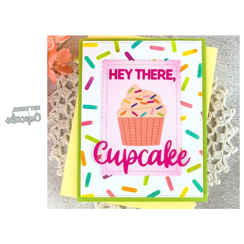 JC Cupcake Letters Metal Cutting Dies for Scrapbooking Craft DIY Cut Die Stencil Background Handmade Tool Album Card Make Decor image
