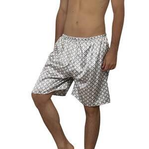 Pajama-Shorts Underwear Boxer Satin Sexy Summer Silk Mens Casual Soft Printed Loose