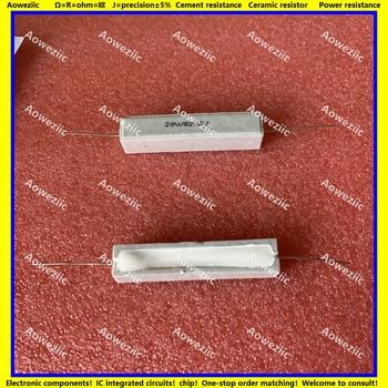 10 Uds RX27 resistencia de cemento Horizontal 20W 820 ohm 20W 820R 820R 20w820jjjjjj resistencia de cerámica precisión 5% resistencia de potencia