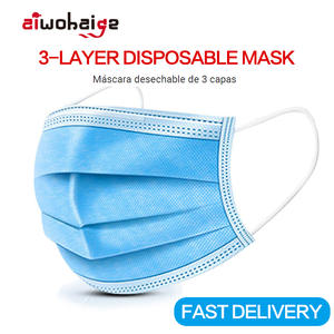 Anti-Dust-Mask Wholesale Cloth 100pcs Disposable Meltblown Non-Woven 3 Ear-Loop