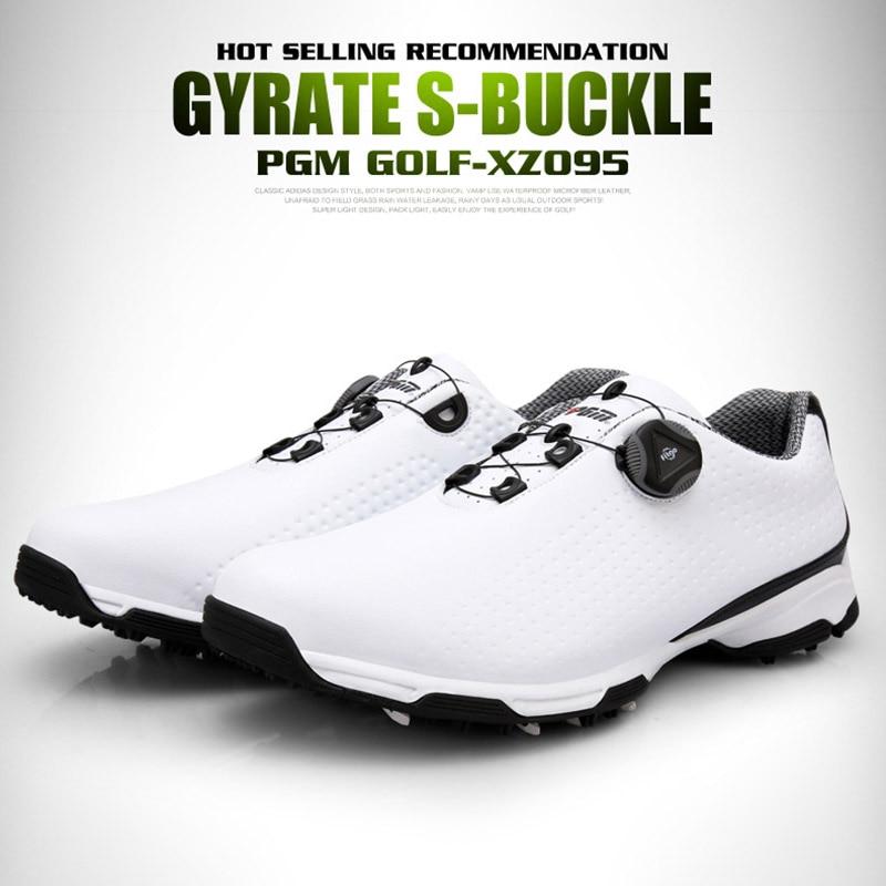 Sapatos de Golfe Sapatos à Prova Tênis de Treinamento Golfe Masculino Esportes Dwaterproof Água Botões Respiráveis Fivela Anti-deslizamento Ys-buy