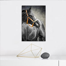 YUMEART Modern Animals Canvas Paintings Jumping Cool Horse Black and White Prints Posters Wall Art Picture for Living Room Decor(China)
