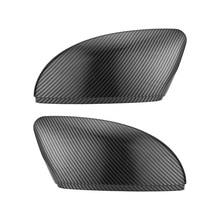2 adet VW Passat B7 Jetta MK6 Scirocco MK3 yeni CC yan kanat ayna kapağı kapaklar (karbon etkisi) volkswagen için ayna kapak Caps