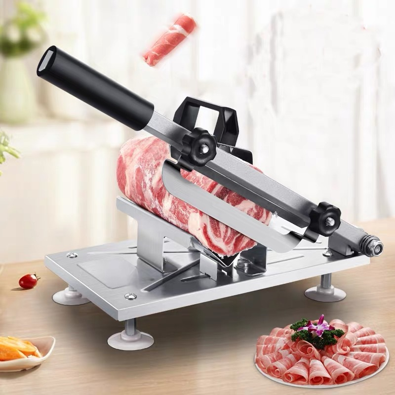 Kitchen tool cut meat slicer alloy + stainless steel household manual thickness adjustable meat vegetable slicer gadget WF101125
