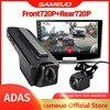 Sameoo U100 kamera na deskę rozdzielczą z przodu iz tyłu ADAS 1080P 720P USB wideorejestrator samochodowy Android kamera wideo rejestrator noktowizor na nawigacja samochodowa