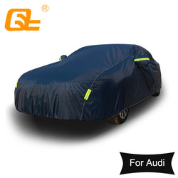 Universal Dark Blue Full Car Cover Outdoor Snow Ice Dust Sun UV Shade Cover Auto Exterior Accessories for audi a4 a6 a7 a8 Q5 Q7