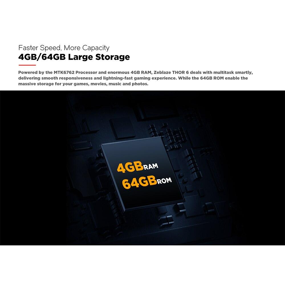 Смарт-часы Zeblaze THOR 6 SIM-карт, 1,6 дюйма, 4 + 64 дюйма, с большой памятью, процессор Helio P22, часы с камерой, водонепроницаемые, спортивные, многофункциональные 4