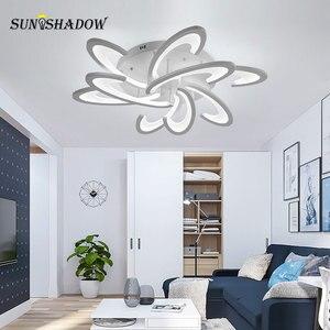 Image 2 - Beyaz led tavan ışık Modern ev avize tavan lambası oturma odası yatak odası için yemek odası LED parlaklık tavan Led armatür