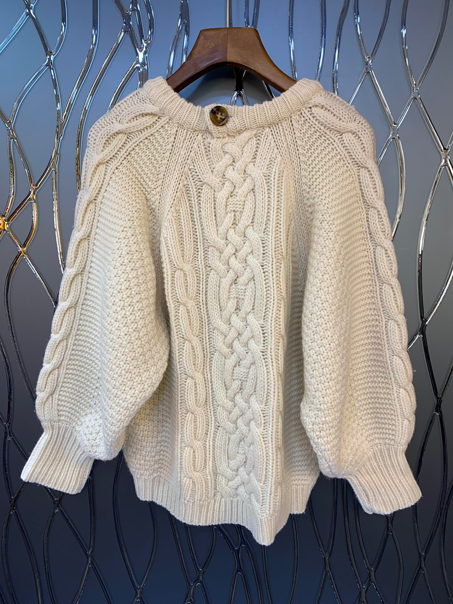 2019 New Casual Fashion Beige Cashmere Pullover Sweaters Winter O Neck Hot Sale Loose Style - 5