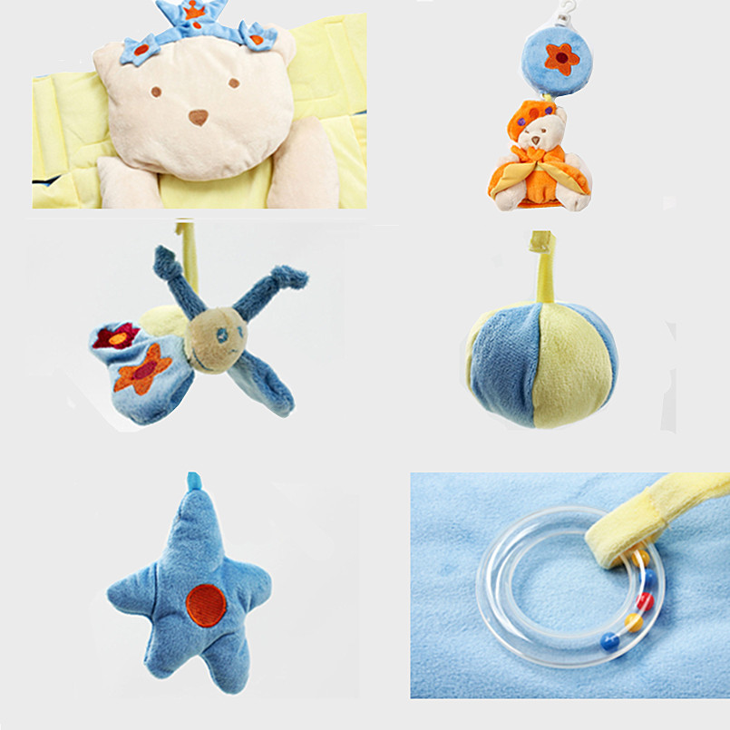 Multifunction baby activity mat with Detachable support baby bed bell musical toys Sensory training Baby mattress baby play mat   Happy Baby Mama