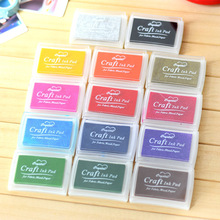 15 Colors Oily Ink Pad Handmade DIY  For Fabric Wood Paper Scrapbooking Bullet Journaling Accessories Craft Oil Based Ink Pad