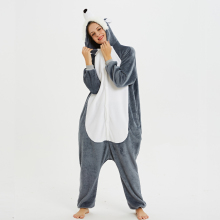 Prairie Wolf Unisex Adult Animal Pajamas Onesies Cosplay Cartoon Adult One-piece Sleepwear Pajamas Christmas Halloween Costume pink unicorn cartoon animal onesies pajamas costume cosplay pyjamas adult onesies party dress halloween pijamas