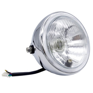 Image 2 - 6 אינץ 35W 12V האוניברסלי רטרו מתכת ערפל מנורת אופנוע פנס צד הר עגול מנוע פנס עבור מחזיק להאלי/סוזוקי