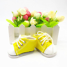 2021 Yellow Fashion Sneakers New Born Baby Doll Shoes for 18