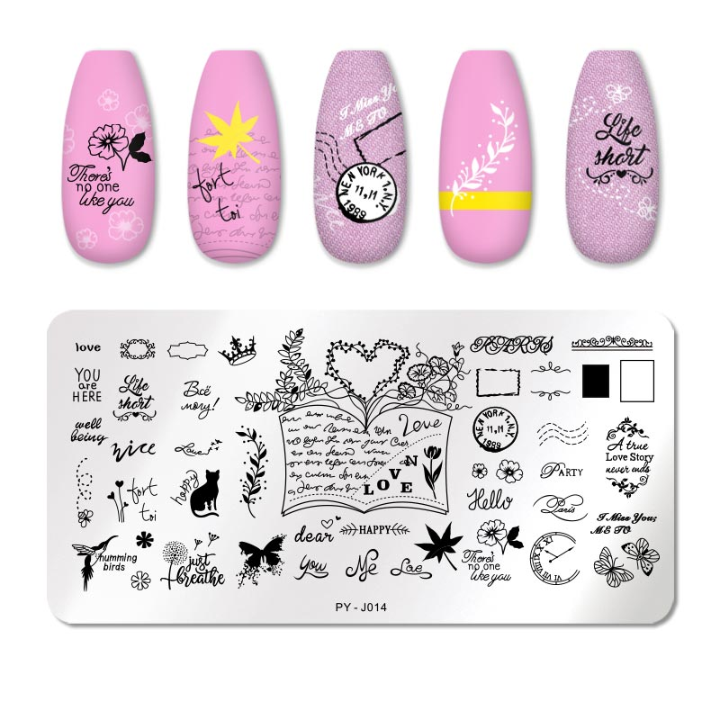 PICT YOU 12*6cm Nail Art Templates Stamping Plate Design Flower Animal Glass Temperature Lace Stamp Templates Plates Image 47