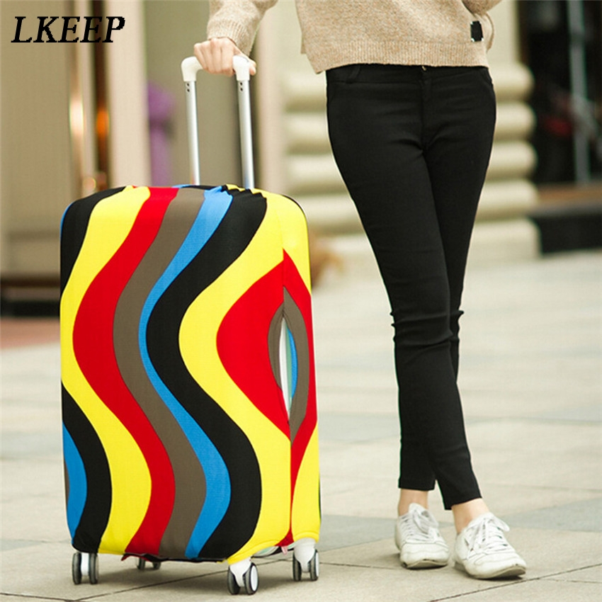 Travel Luggage Suitcase Protective Cover Stretch Dust Covers For 20/24/28inch SuitCases Protector Accessories