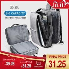 MOYYI Business Travel dwukomorowe plecaki wielowarstwowe z unikalną cyfrową torbą na 15.6 cala Laptop plecak męski torby