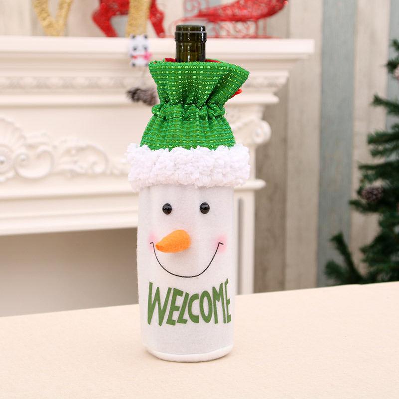 Wine Bottle Bag Christmas Decoration Old Man Wine Bottle Cover Wine Bottle Decoration Red Wine Bottle Bag Navidad in Other Bar Accessories from Home Garden