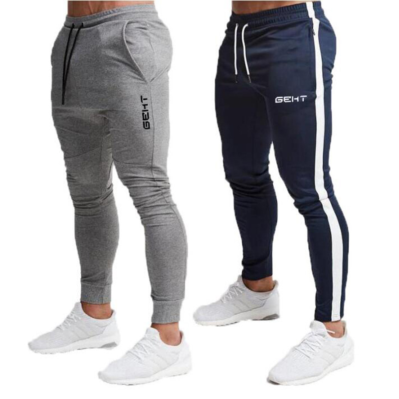 2019 New High Quality Brand Men Sports Pants Casual Stretch Pants Gyms Fitness Bodybuilding Jogger Pants Outdoor Jogging Pants
