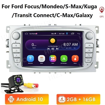 2 Din Android 10 Car Radios Car Multimedia player 7'' Audio DVD Player For Ford/Focus/S-Max/Mondeo 9/GalaxyC-Max with GPS wifi image