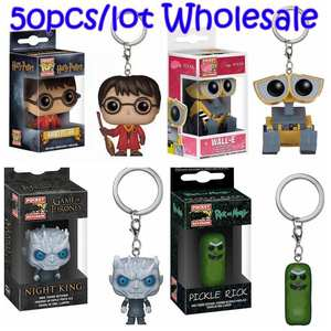 Funko Toy Keychain Wall-E Pickle Rick Harri Potter Figure Doll Pocket Action-Toy Night-King