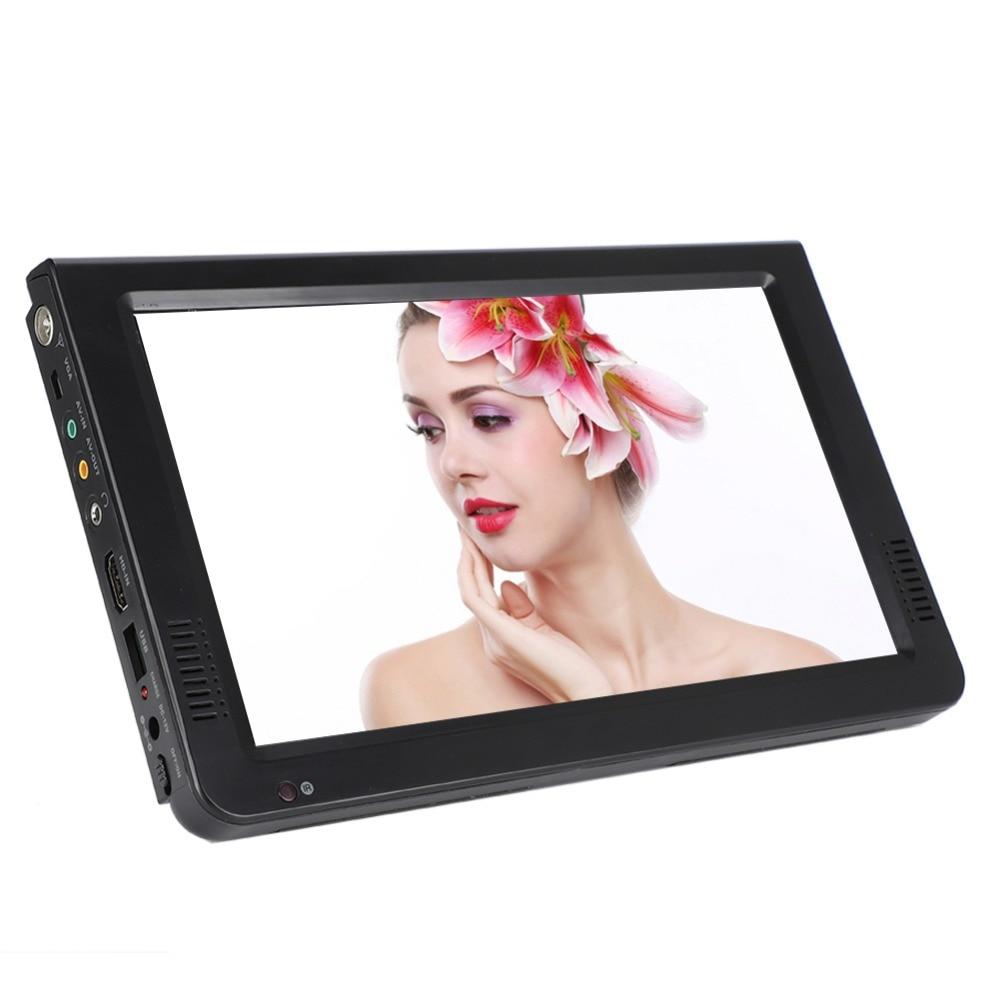 10 inch DVB-T-T2 16:9 Portable TFT-LED HD Digital Analog Color TV Television Player 16