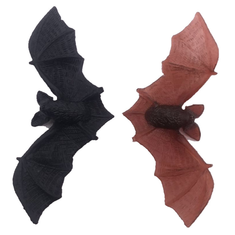 10pcs Halloween Simulation Pvc Plastic Black Red Small Bat Tricky Persecute New Peculiar Decoration Small Animal Toys