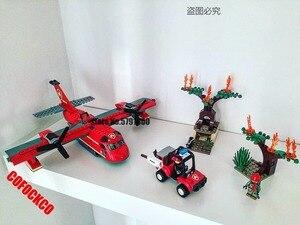 11214 City series 60217 381pcs/set City Fire Building Blocks Kids Toys For Children Gift