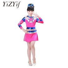 Cheerleader Costume Dress-Up-Clothes Cosplay Carnival-Party School Kids Child Girls