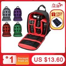 Многофункциональный рюкзак для камеры, водонепроницаемая сумка для цифровой зеркальной камеры, фотоаппарата, чехол для Nikon для Canon