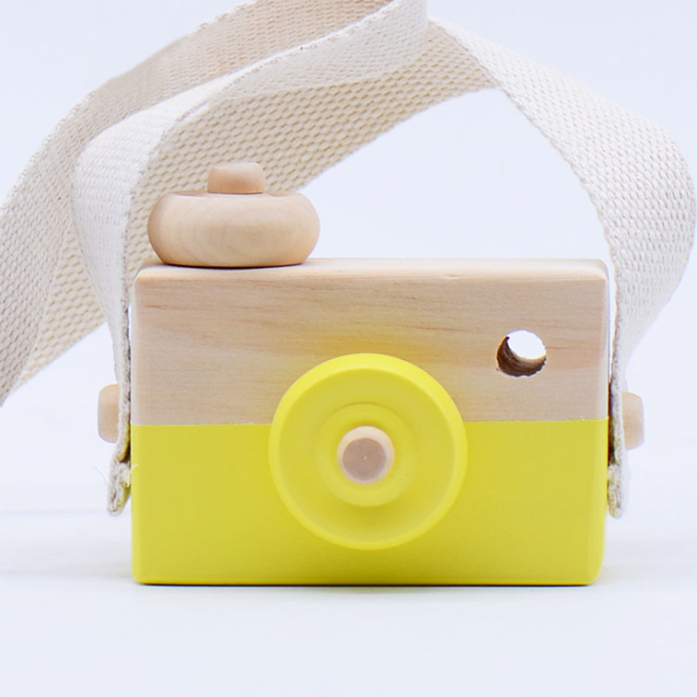 Kids Photography Props Eco-friendly Cute Camera Birthday Gifts Children Wooden Toy Handcraft Decoration