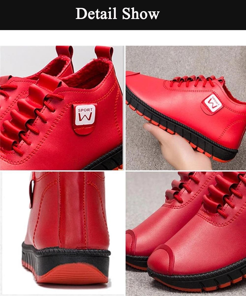 grande confortável à prova dwaterproof água feminino casual ankle boots