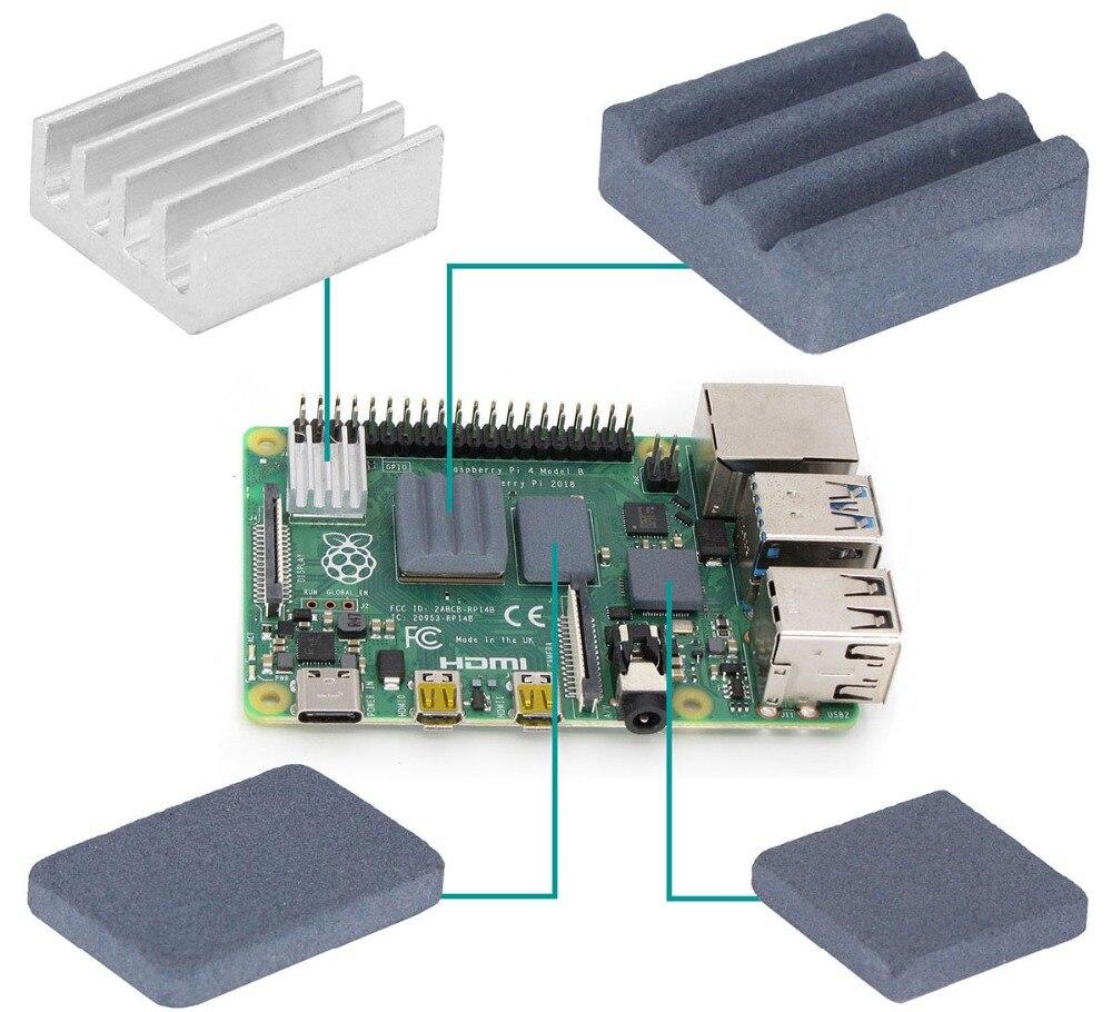 Disipador de Calor para Raspberry Pi 2//3 9 Unidades ILS