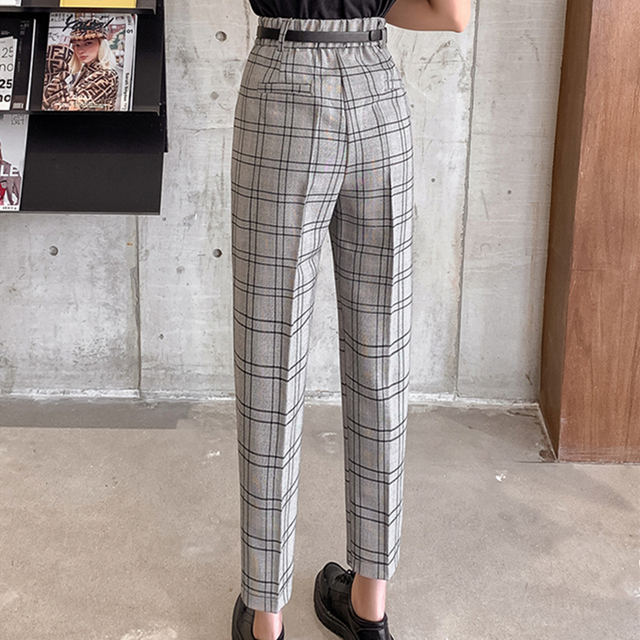 Casual Plaid Trousers 3