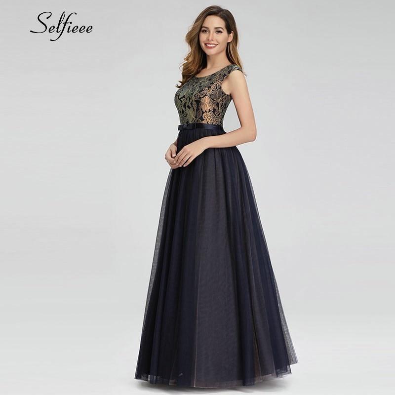 Vintage Lace Maxi Dresses O Neck Sleeveless Bow Sashes Elegant Patchwork Navy Blue Women Dresses Long Summer Dresses Robe Femme in Dresses from Women 39 s Clothing