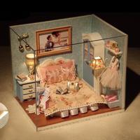 3D DIY деревянный кукольный дом Детские кукольные домики миниатюрная кукольная мебель комплект кукольный домик Миниатюрные аксессуары подар...