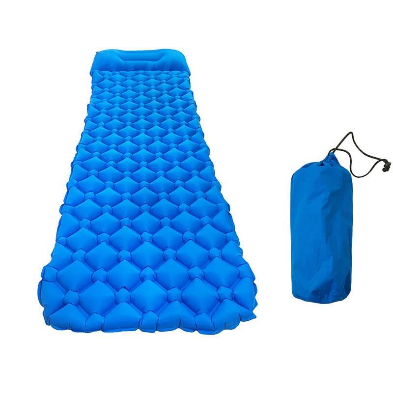 Ultralight Inflatable Sleeping Mattress Compact Bag Size 33cm x 12cm Trail Lightweight Camping Mat With Pillow Inflated Size L193cm x W60cm x D5cm Waterproof
