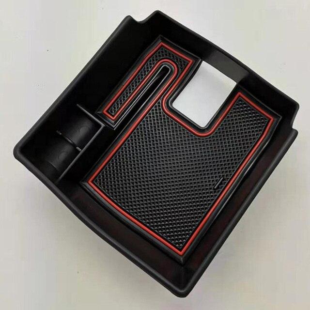 Caixa de armazenamento interior preta do recipiente do apoio de braço do console do carro com tapetes antiderrapantes para toyota corolla hatchback 2019 movimentação canhoto