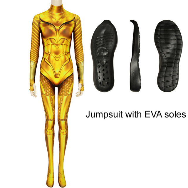 Wonder Woman 1984 Diana Prince Cosplay Costume Bodysuit Zentai Jumpsuit 3D Print