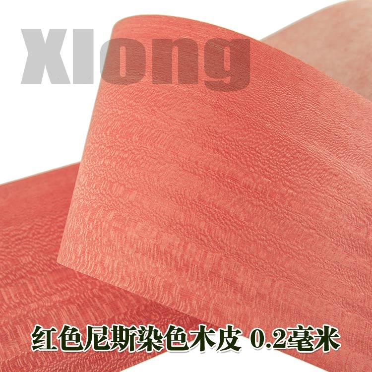 L:2.5Meters Width:210mm Thickness:0.3mm Natural Red Nice Veneer Big Red Veneer Easy Poplar Dyeing High Grade Veneer