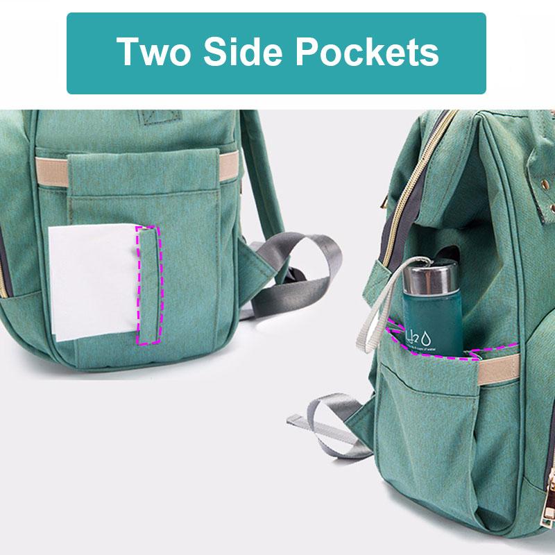 Had8e1ddbaa164054a00f8c3faca404102 Diaper Bag With USB Interface Large Capacity Travel Backpack Nursing Handbag Waterproof Nappy Bag Kits Mummy Maternity Baby Bag