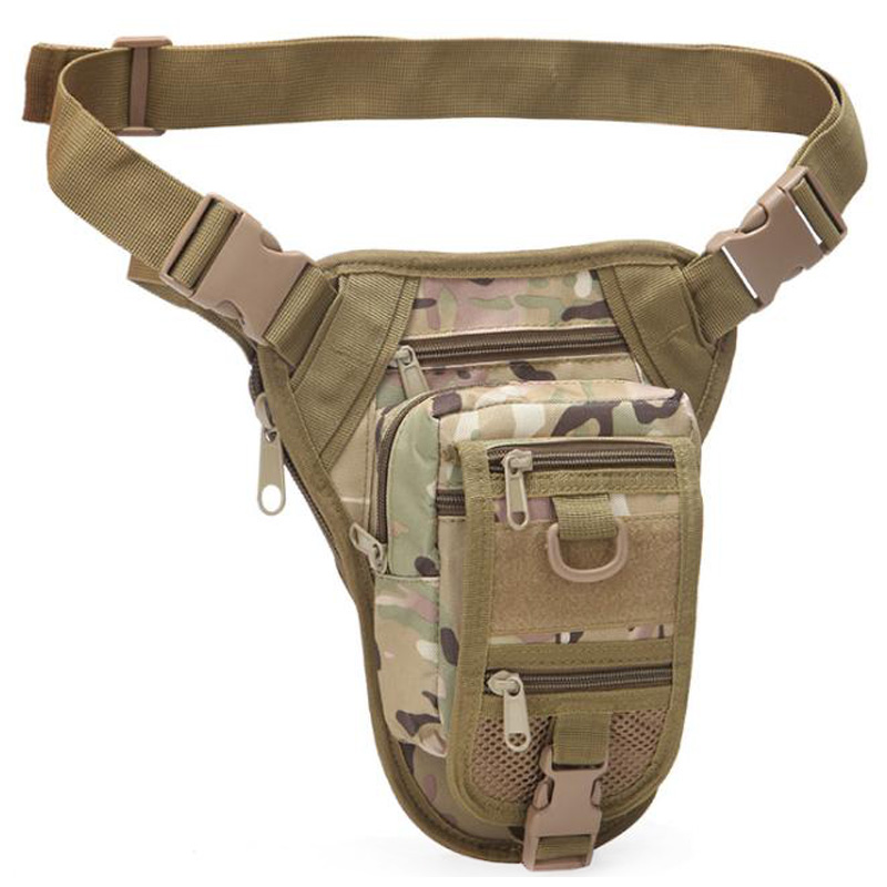Outdoor Multifunctional Hiking Hunting Waist Bag Drop Leg Bag Hunting Tool Waist Pack Motorcycle Sports Bag Camouflage